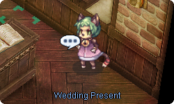 This cute doram offers wedding-related options