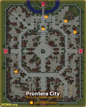 Known locations of Trick-or-Treaters at Prontera City