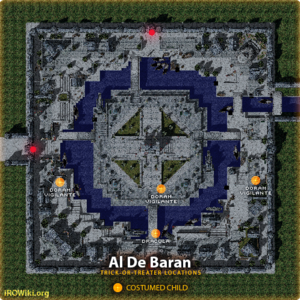Known locations of Trick-or-Treaters at Al De Baran